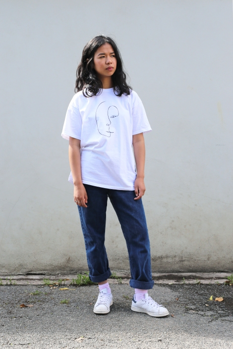 Face T-Shirt, Full Body, Clarice Elliott Image
