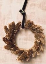 dried grass miniature christmas wreath