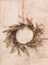 homemade miniature christmas wreath